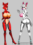 Mangle and Roxanne (Foxy ) (Disembowell) by alcatras45