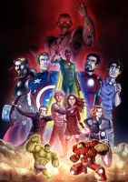 Avengers Age Of Ultron by stayte-of-the-art