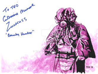 Zuckuss - signed by Catherine Munroe by tdastick