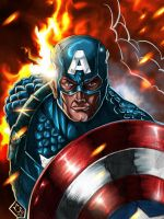 Captain America colored by Mykemanila
