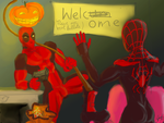 Little Spidey meets madness by JnMohab