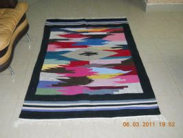 multicolored multani darri rug by zamir