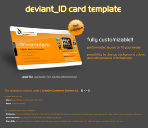 deviant_ID Card Template by deviantdark