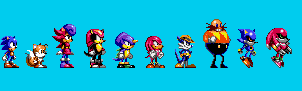 Sonic Triple Trouble: Standing Sprites by Team-Lava