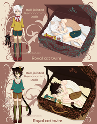 [CLOSED] Adopt BJD Kemono Doll. Royal Twins by aritsuneart