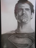 New pencil portrait: THE MAN OF STEEL by DibujarteRiestra