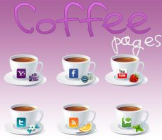 Coffe pages Icons by alenet21tutos
