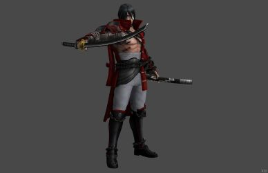 'Bloodstained: Ritual of the Night' Zangetsu XPS!! by lezisell