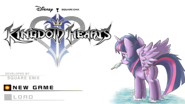 KH2 Title Screen with Twilight Sparkle by Robsa990