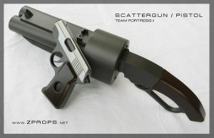 TF2 Scout Scattergun and Pistol by zanderwitaz