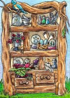 Magical Forest Cabinet ATC by emmadreamstar