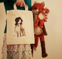Little Rabbit - Tote Bag by gorjuss