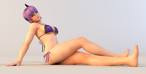 Ayane 3DS Render 15 by x2gon