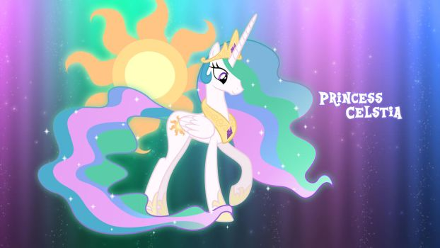 Princess Celestia Inspired Wallpaper by MrPiBB-93