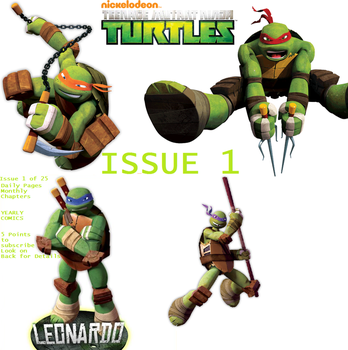 TMNT Issue 1 Cover by SpiderSenseSpiderMan