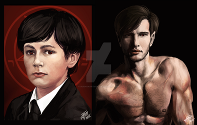 Damien-Before and After by SUCHanARTIST13