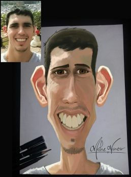 Caricature Study - for my friend - big ear by TheMaikeNunes