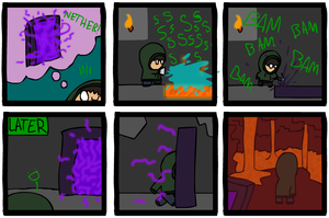 Minecraft Comic 3 by Hraugur