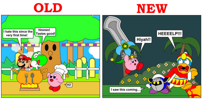 Kirby's Final Smash - Old and New by DarkDiddyKong