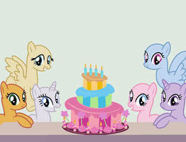 Mlp Base Happy B Day by CloudyPonyArtists