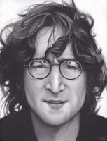 John Lennon by xabigal-eyesx