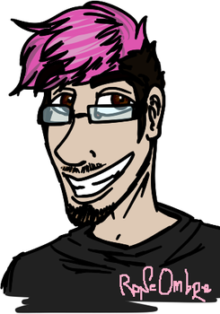 Quick Markiplier Doodle by RoneOmbre
