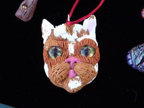 Cat hand sculpted Mr fluffykins by 5minalone