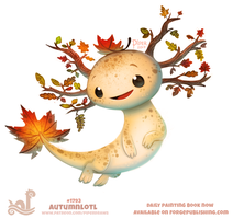 Daily Paint 1793# Atumnlotl by Cryptid-Creations