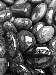 Wet pebbles (Pencil) by Paul-Shanghai