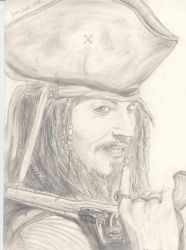Jack Sparrow Pencil Drawing by Nikzt