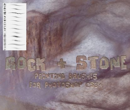 Rock and Stone Brushes by El-Chupacabras