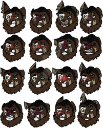 [ff]Some Lapoe Expressions by millemusen
