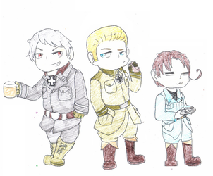 The rest of the axis powers and prussia by TropicaIDeer
