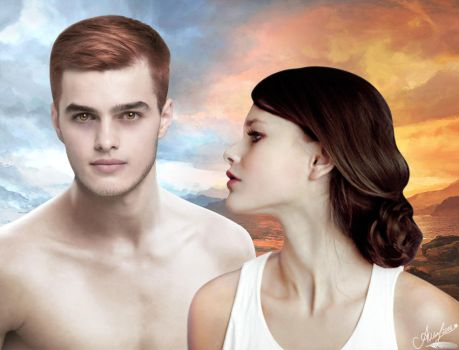 Fire and Ice | Edward Cullen and Bella Swan by topsi91