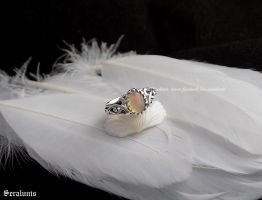 'Eternal love' handmade sterling silver ring by seralune