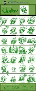 Expression Meme - Chester by spookydoom
