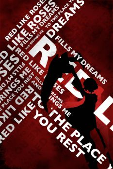 Red Like Roses RWBY Typography Poster by OutlawRave