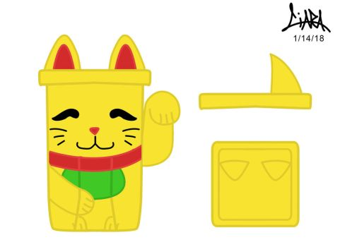 Gold Lucky Cat by aznmushi019