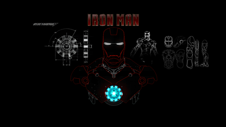 Iron Man Draw 1920x1080 v1 by CriticalE