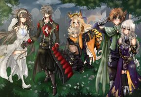 - Bravely Second : Final team - by Adween-art