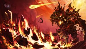 Ancient Fire Colossus by gafana