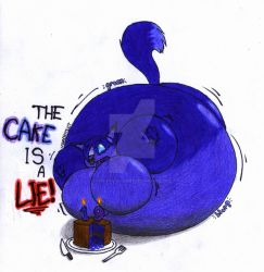 NOT MY WORK - The cake is a lie! by The-Fox-Of-Light