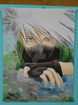 Kakashi Hatake made in charcoal and pastels by ShelandryStudio