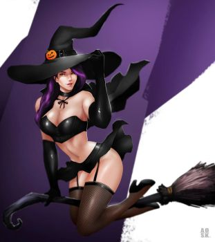 Halloween Witch by DoomGuy26