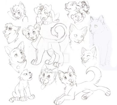 Sketch Dump 1 by Shema-the-lioness