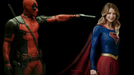 Deadpool Wallpaper - Supergirl at Gun Point by Curtdawg53