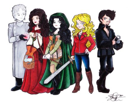 OUAT Group Chibis by StephanieChateau