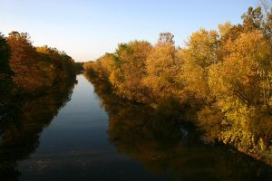 Fall on the Mahoning river by DragonWolfACe