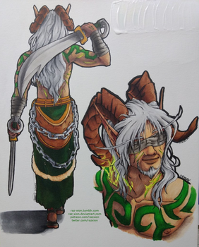 Monax the Undying - COPIC drawings by Raz-Xion