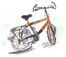 orenge bicycle by pnna